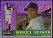 2009 Topps Heritage Chrome Refractors Miguel Tejada Baseball Card