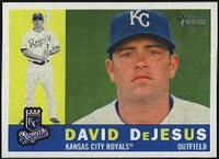 2009 Topps Heritage David DeJesus Baseball Card