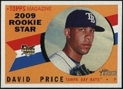 2009 Topps Heritage David Price Rookie Baseball Card