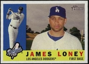 2009 Topps Heritage James Loney Baseball Card