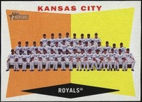 2009 Topps Heritage Kansas City Royals Team Baseball Card