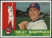 2009 Topps Heritage Kelly Shoppach Baseball Card