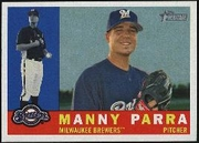 2009 Topps Heritage Manny Parra Baseball Card