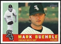 2009 Topps Heritage Mark Buehrle Baseball Card