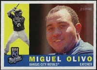 2009 Topps Heritage Miguel Olivo Baseball Card