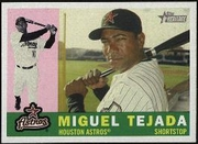 2009 Topps Heritage Miguel Tejada Baseball Card