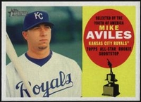 2009 Topps Heritage Mike Aviles Baseball Card