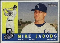 2009 Topps Heritage Mike Jacobs Baseball Card