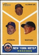 2009 Topps Heritage New York Mets Coaches Baseball Card