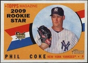 2009 Topps Heritage Phil Coke Rookie Baseball Card
