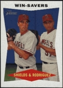 2009 Topps Heritage Scot Shields & Francisco Rodriguez Baseball Card