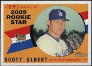 2009 Topps Heritage Scott Elbert Baseball Card