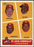 2009 Topps Heritage St. Louis Cardinals Coaches Baseball Card
