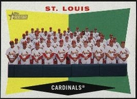 2009 Topps Heritage St. Louis Cardinals Team Baseball Card