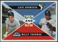 2009 Topps Heritage Then and Now Luis Aparicio & Willy Taveras Baseball Card