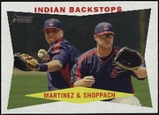 2009 Topps Heritage Victor Martinez & Kelly Shoppach Baseball Card