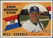2009 Topps Heritage Will Venable Baseball Card