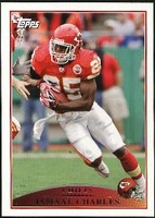 2009 Topps Jamaal Charles NFL Football Card