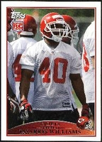 2009 Topps Javarris Williams Rookie NFL Football Card