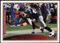 2009 Topps Larry Fitzgerald Postseason Highlight On The Road NFL Football Card