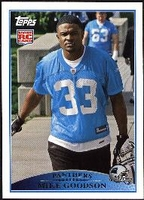 2009 Topps Mike Goodson Rookie NFL Football Card