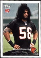 2009 Topps Rey Maualuga Rookie NFL Football Card