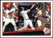 2009 Topps Ryan Howard & David Wright & Adrian Gonzalez NL RBI League Leaders Baseball Card