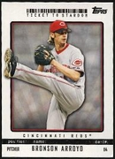 2009 Topps Ticket to Stardom Bronson Arroyo Baseball Card