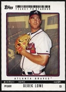2009 Topps Ticket to Stardom Derek Lowe Baseball Card