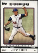 2009 Topps Ticket to Stardom Jeremy Sowers Baseball Card