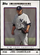 2009 Topps Ticket to Stardom Joba Chamberlain Baseball Card