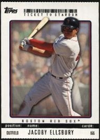 2009 Topps Ticket to Stardom Perforated Jacoby Ellsbury Baseball Card