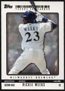 2009 Topps Ticket to Stardom Rickie Weeks Baseball Card