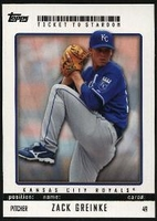 2009 Topps Ticket to Stardom Zack Greinke Baseball Card