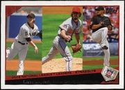2009 Topps Tim Lincecum & Dan Haren & Johan Santana Strikeout League Leaders Baseball Card