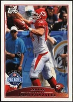 2009 Topps Tony Gonzalez Pro Bowl NFL Football Card