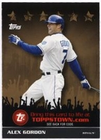 2009 Topps Topps Town Gold Alex Gordon Baseball Card