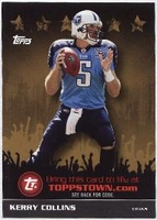 2009 Topps ToppsTown Gold Kerry Collins NFL Football Card