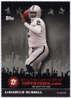 2009 Topps ToppsTown Silver JaMarcus Russell NFL Football Card