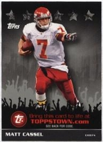 2009 Topps ToppsTown Silver Matt Cassel NFL Football Card