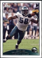 2009 Topps Trent Cole NFL Football Card