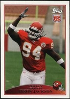 2009 Topps Tyson Jackson Rookie NFL Football Card