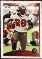 2009 Topps Warrick Dunn NFL Football Card