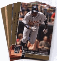 2009 Upper Deck First Edition Detroit Tigers Baseball Cards Team Set
