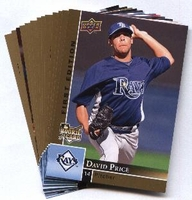 2009 Upper Deck First Edition Tampa Bay Rays Baseball Cards Team Set