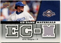 2009 Upper Deck UD Game Materials Game-Used Eric Gagne Baseball Card