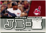 2009 Upper Deck UD Game Materials Game-Used Josh Barfield Baseball Card