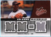 2009 Upper Deck UD Game Materials Melvin Mora Gray Game-Used Jersey Baseball Card