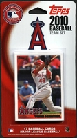 2010 Los Angeles Angels of Anaheim Topps MLB Factory Baseball Cards Team Set