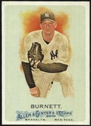 2010 Topps Allen and Ginter A.J. Burnett Baseball Card